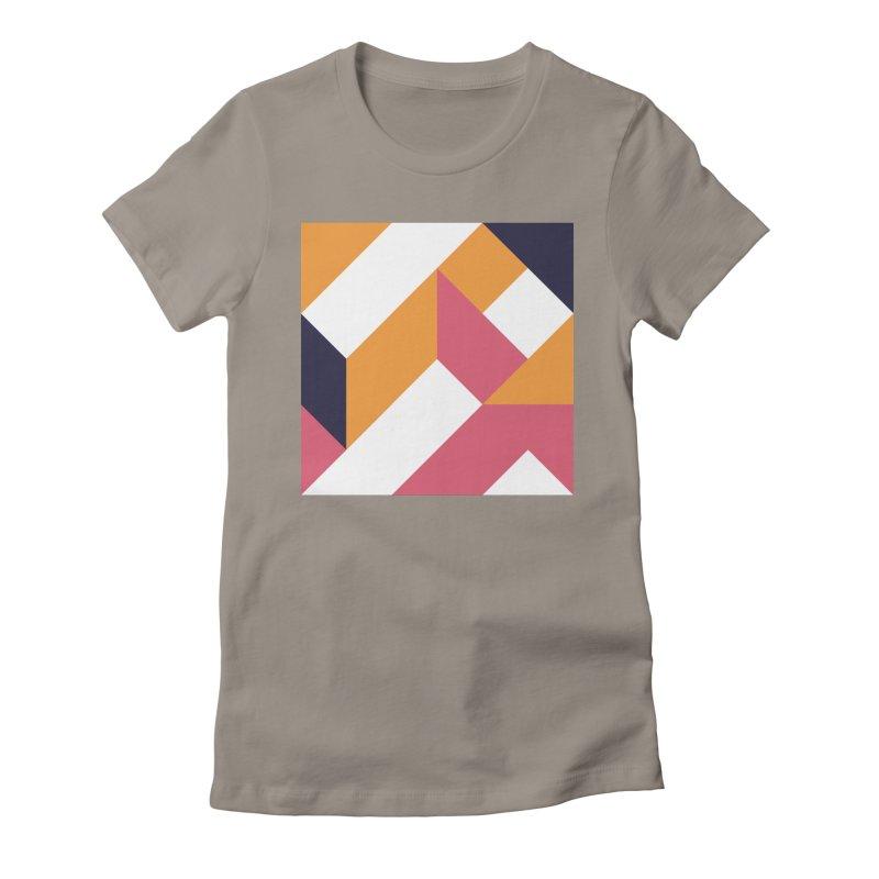 Geometric Design Series 4, Poster 5 Women's Fitted T-Shirt by Madeleine Hettich Design & Illustration