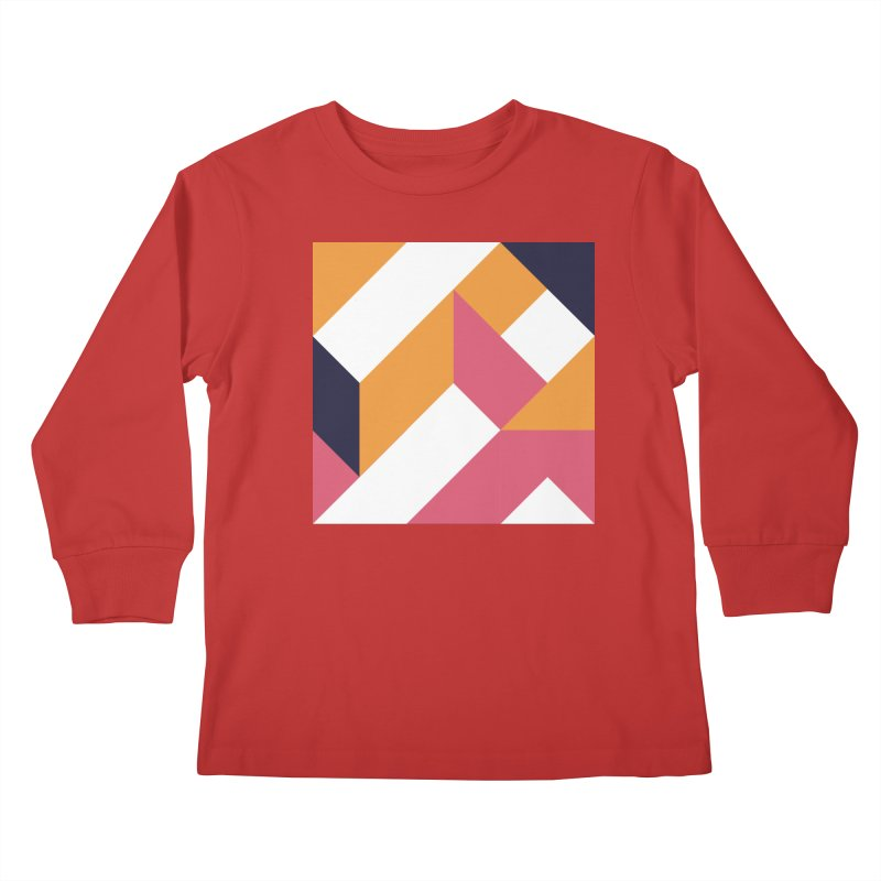 Geometric Design Series 4, Poster 5 Kids Longsleeve T-Shirt by Madeleine Hettich Design & Illustration