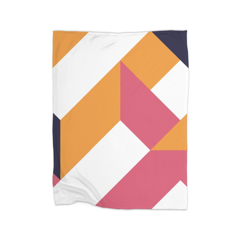 Geometric Design Series 4, Poster 5 Home Fleece Blanket Blanket by Madeleine Hettich Design & Illustration