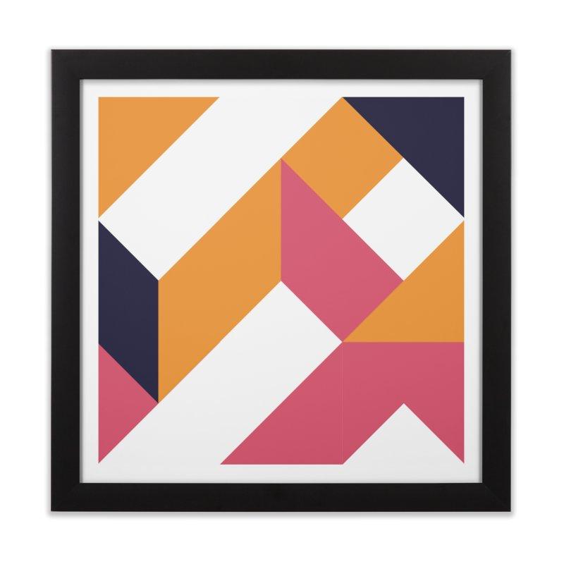 Geometric Design Series 4, Poster 5 Home Framed Fine Art Print by Madeleine Hettich Design & Illustration