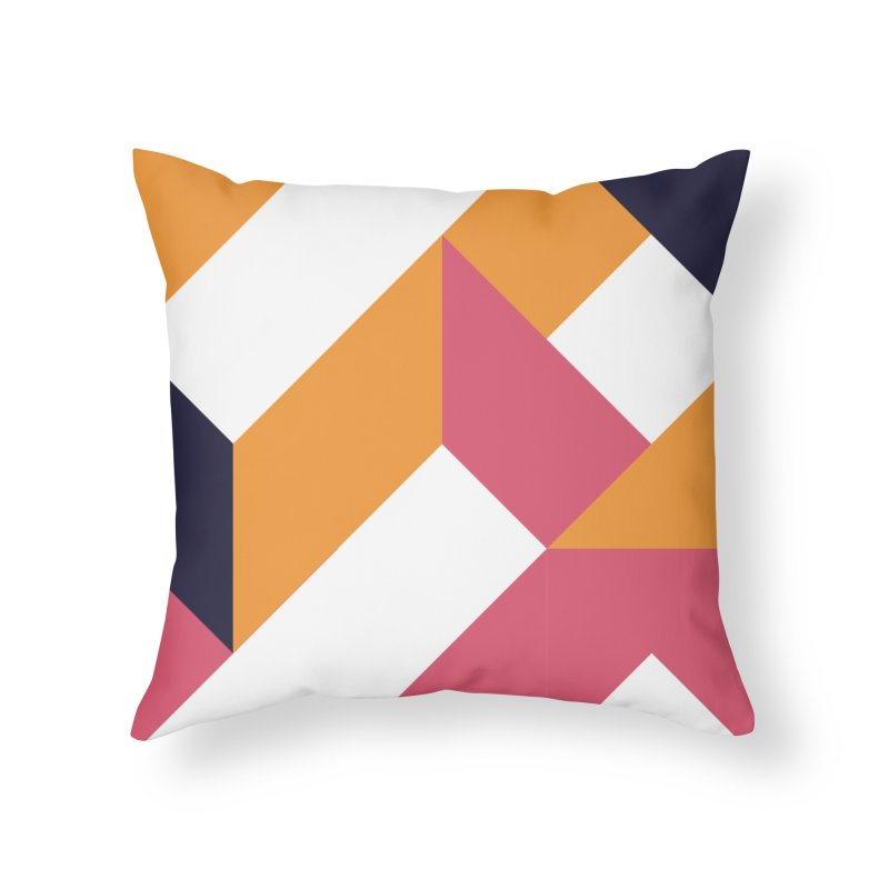 Geometric Design Series 4, Poster 5 Home Throw Pillow by Madeleine Hettich Design & Illustration