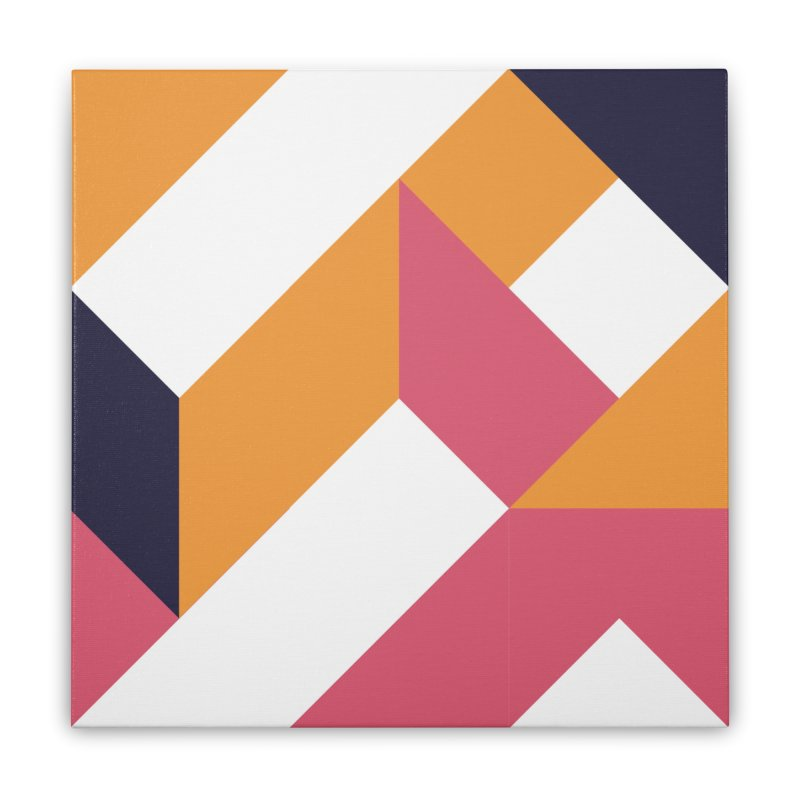 Geometric Design Series 4, Poster 5 Home Stretched Canvas by Madeleine Hettich Design & Illustration