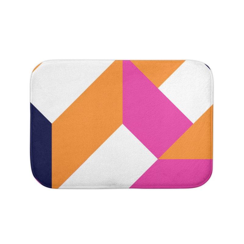 Geometric Design Series 4, Poster 5 (Version 2) Home Bath Mat by Madeleine Hettich Design & Illustration