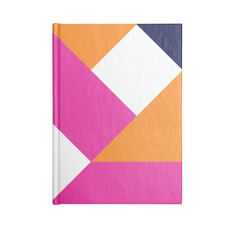 Geometric Design Series 4, Poster 5 (Version 2) Accessories Lined Journal Notebook by Madeleine Hettich Design & Illustration