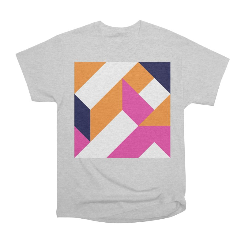 Geometric Design Series 4, Poster 5 (Version 2) Women's Heavyweight Unisex T-Shirt by Madeleine Hettich Design & Illustration