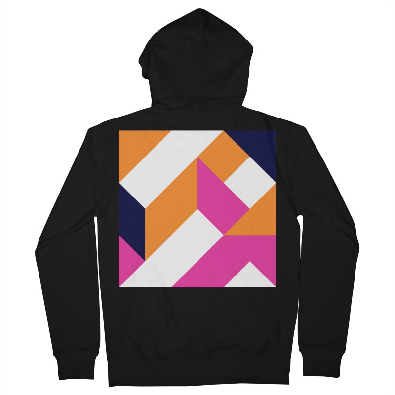 Geometric Design Series 4, Poster 5 (Version 2) Women's French Terry Zip-Up Hoody by Madeleine Hettich Design & Illustration