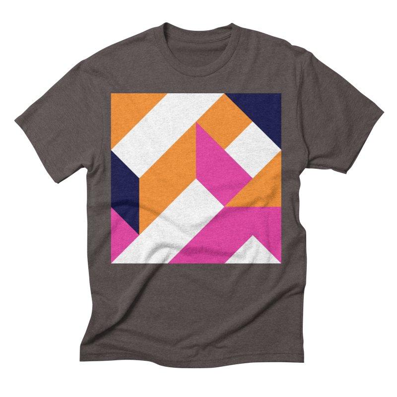 Geometric Design Series 4, Poster 5 (Version 2) Men's Triblend T-Shirt by Madeleine Hettich Design & Illustration