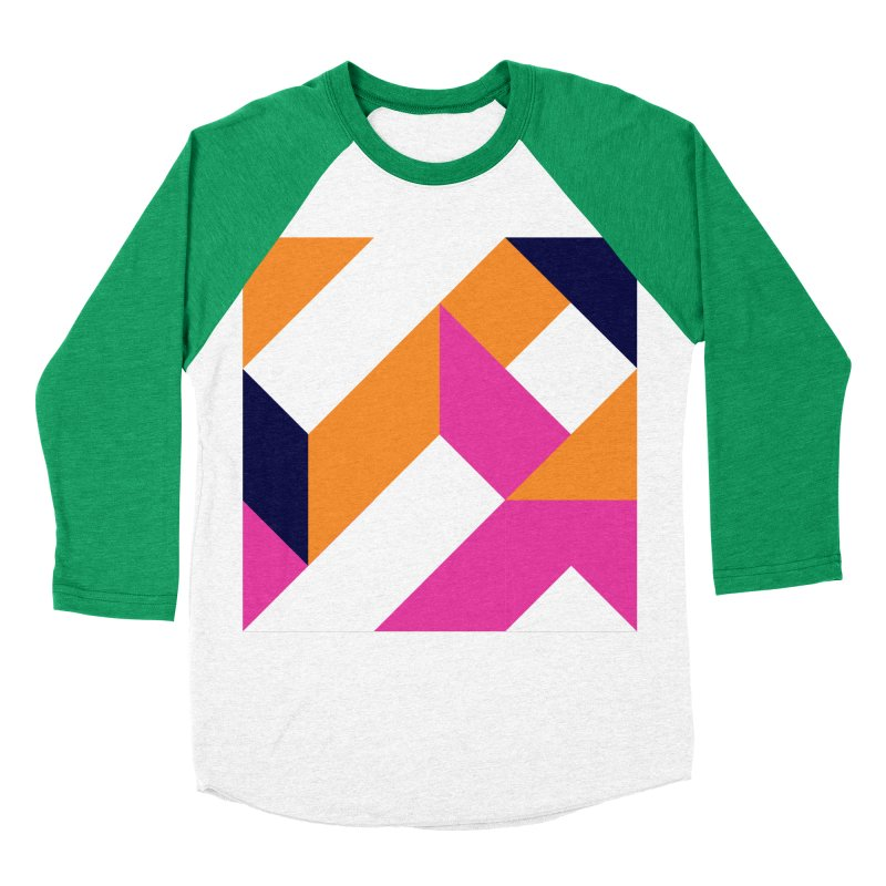 Geometric Design Series 4, Poster 5 (Version 2) Women's Baseball Triblend Longsleeve T-Shirt by Madeleine Hettich Design & Illustration