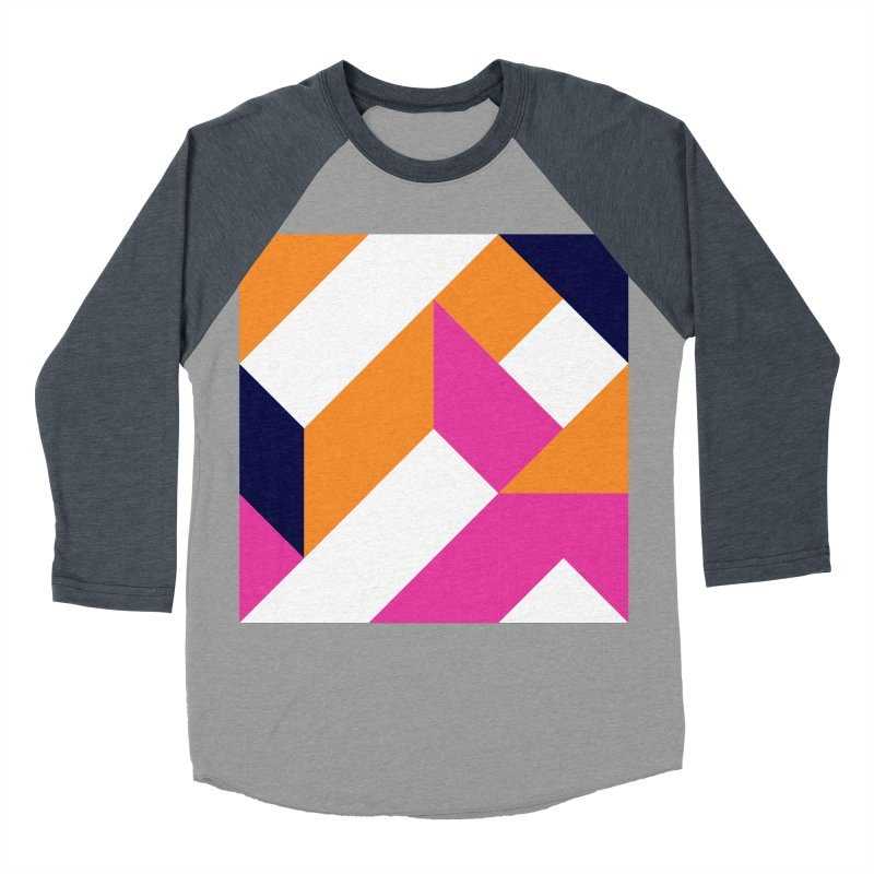 Geometric Design Series 4, Poster 5 (Version 2) Women's Baseball Triblend Longsleeve T-Shirt by Madeleine Hettich Design & Illustration