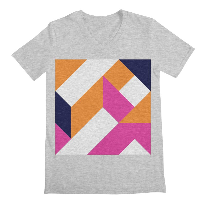 Geometric Design Series 4, Poster 5 (Version 2) Men's Regular V-Neck by Madeleine Hettich Design & Illustration
