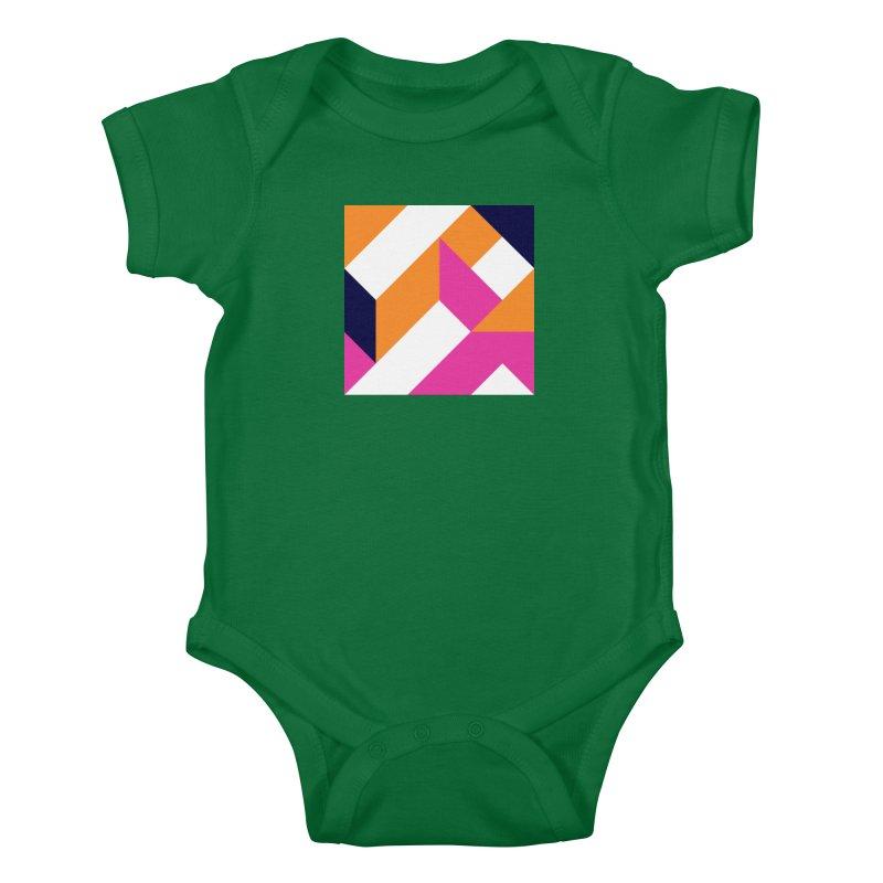 Geometric Design Series 4, Poster 5 (Version 2) Kids Baby Bodysuit by Madeleine Hettich Design & Illustration