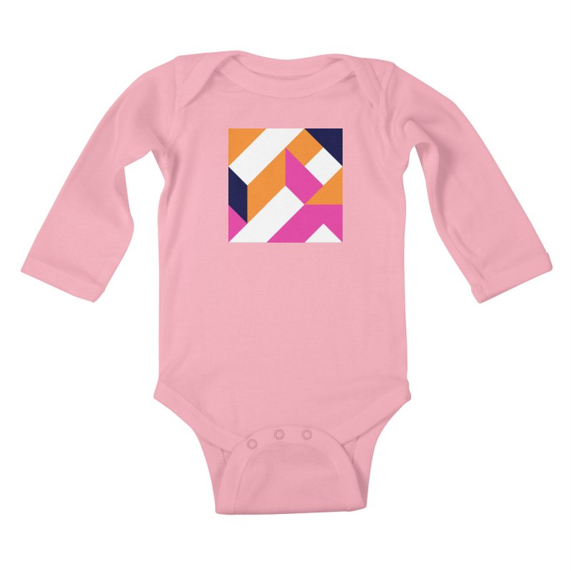 Geometric Design Series 4, Poster 5 (Version 2) Kids Baby Longsleeve Bodysuit by Madeleine Hettich Design & Illustration