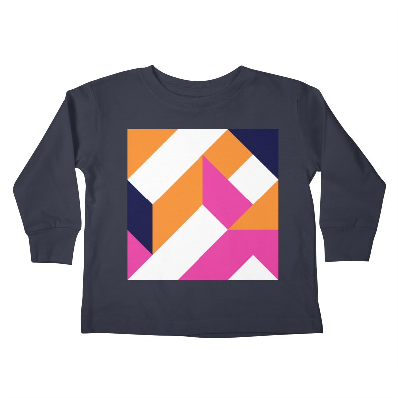 Geometric Design Series 4, Poster 5 (Version 2) Kids Toddler Longsleeve T-Shirt by Madeleine Hettich Design & Illustration