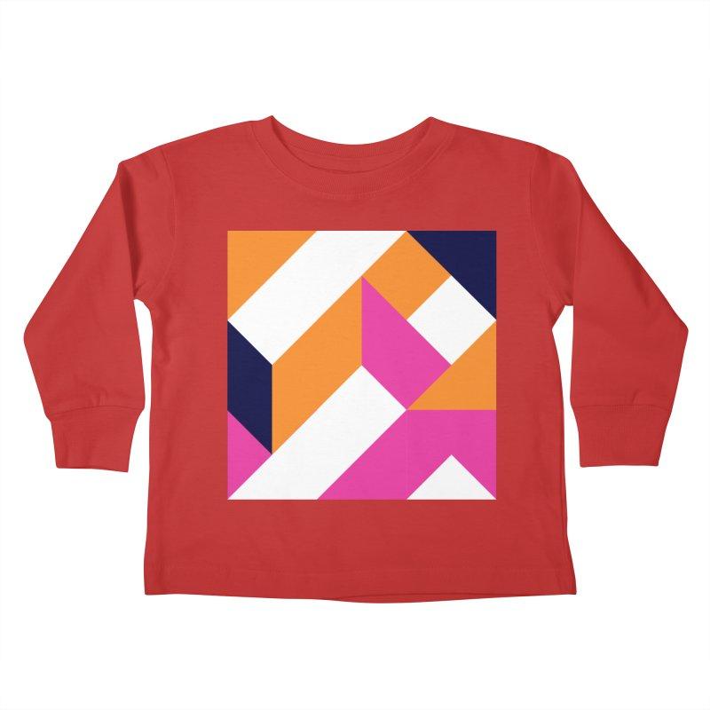 Geometric Design Series 4, Poster 5 (Version 2) Kids Toddler Longsleeve T-Shirt by Madeleine Hettich Design & Illustration