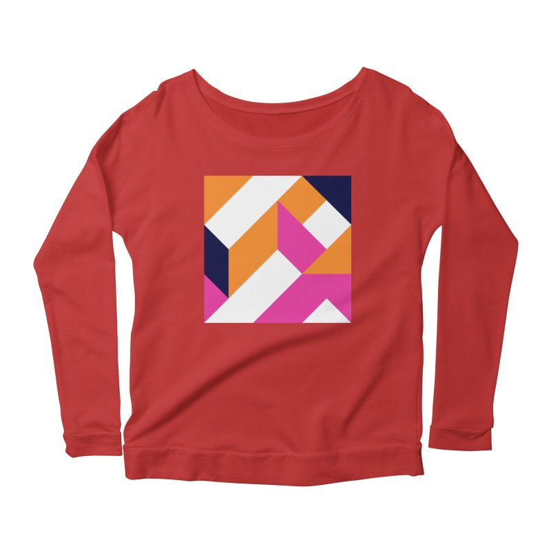 Geometric Design Series 4, Poster 5 (Version 2) Women's Scoop Neck Longsleeve T-Shirt by Madeleine Hettich Design & Illustration