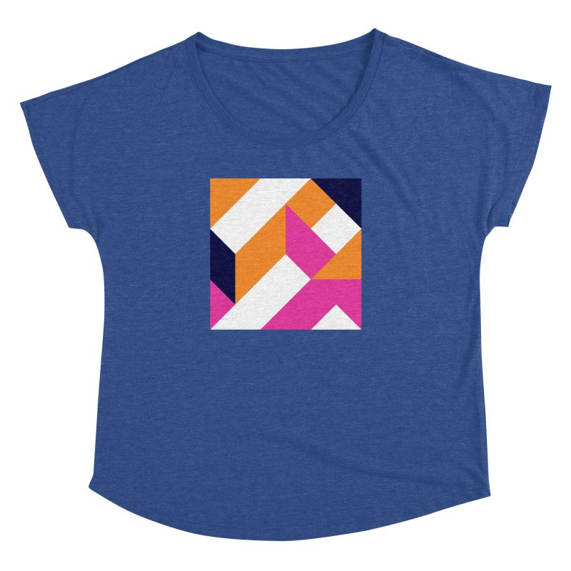 Geometric Design Series 4, Poster 5 (Version 2) Women's Dolman by Madeleine Hettich Design & Illustration