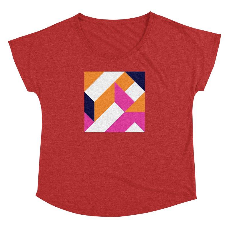 Geometric Design Series 4, Poster 5 (Version 2) Women's Dolman Scoop Neck by Madeleine Hettich Design & Illustration