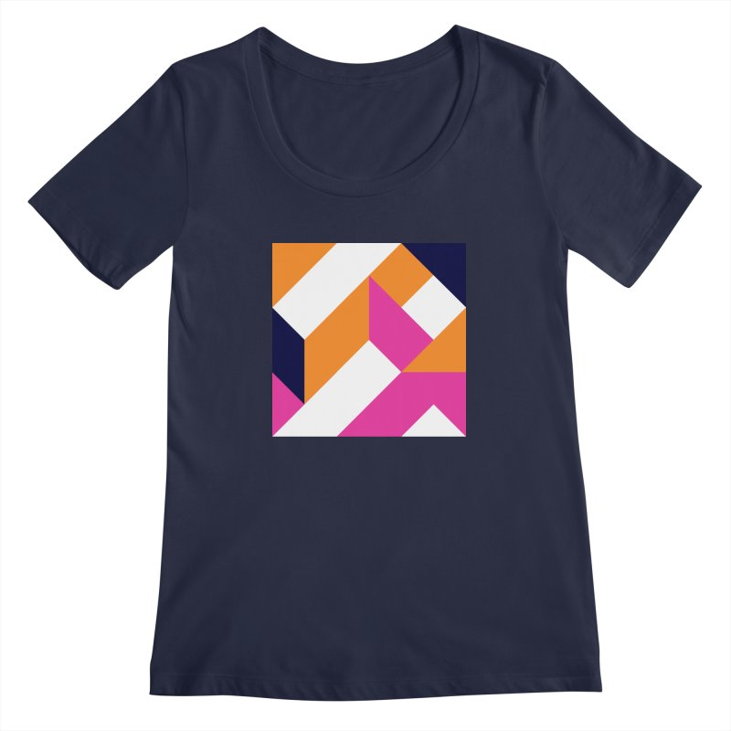 Geometric Design Series 4, Poster 5 (Version 2) Women's Regular Scoop Neck by Madeleine Hettich Design & Illustration
