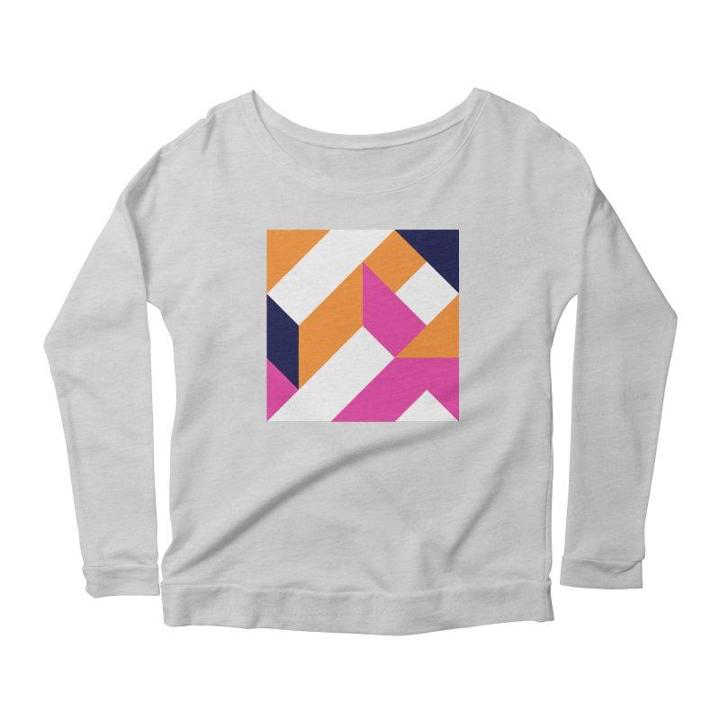 Geometric Design Series 4, Poster 5 (Version 2) Women's Scoop Neck Longsleeve T-Shirt by Madeleine Hettich Design & Illustration