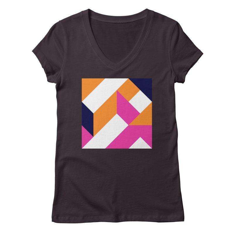 Geometric Design Series 4, Poster 5 (Version 2) Women's V-Neck by Madeleine Hettich Design & Illustration