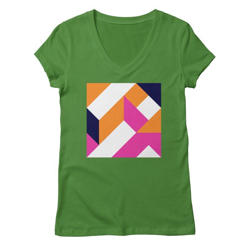 Geometric Design Series 4, Poster 5 (Version 2) Women's Regular V-Neck by Madeleine Hettich Design & Illustration