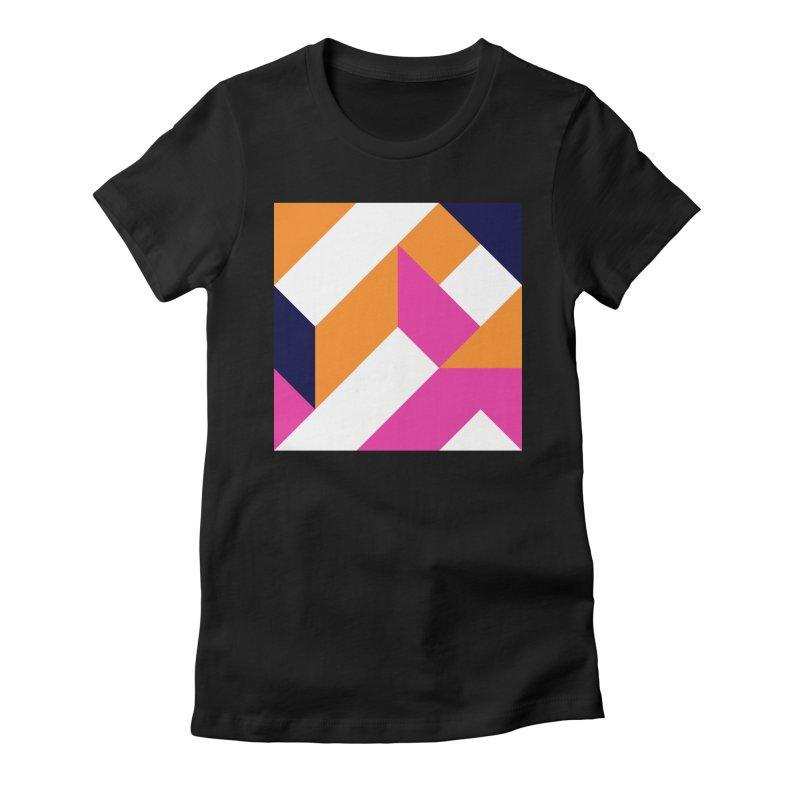 Geometric Design Series 4, Poster 5 (Version 2) Women's Fitted T-Shirt by Madeleine Hettich Design & Illustration