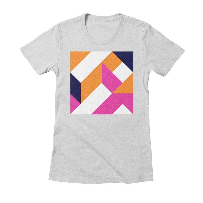 Geometric Design Series 4, Poster 5 (Version 2) Women's Fitted T-Shirt by Madeleine Hettich Design & Illustration