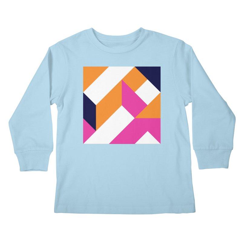 Geometric Design Series 4, Poster 5 (Version 2) Kids Longsleeve T-Shirt by Madeleine Hettich Design & Illustration