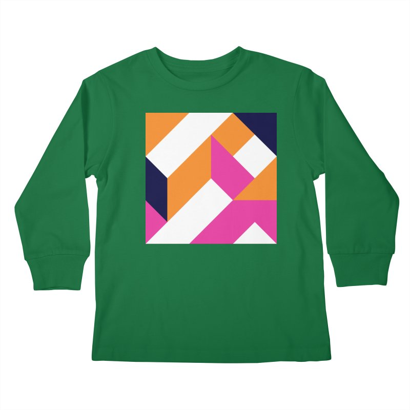Geometric Design Series 4, Poster 5 (Version 2) Kids Longsleeve T-Shirt by Madeleine Hettich Design & Illustration