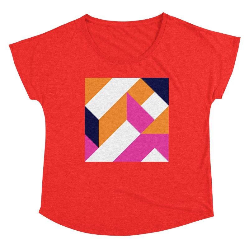 Geometric Design Series 4, Poster 5 (Version 2) Women's Scoop Neck by Madeleine Hettich Design & Illustration