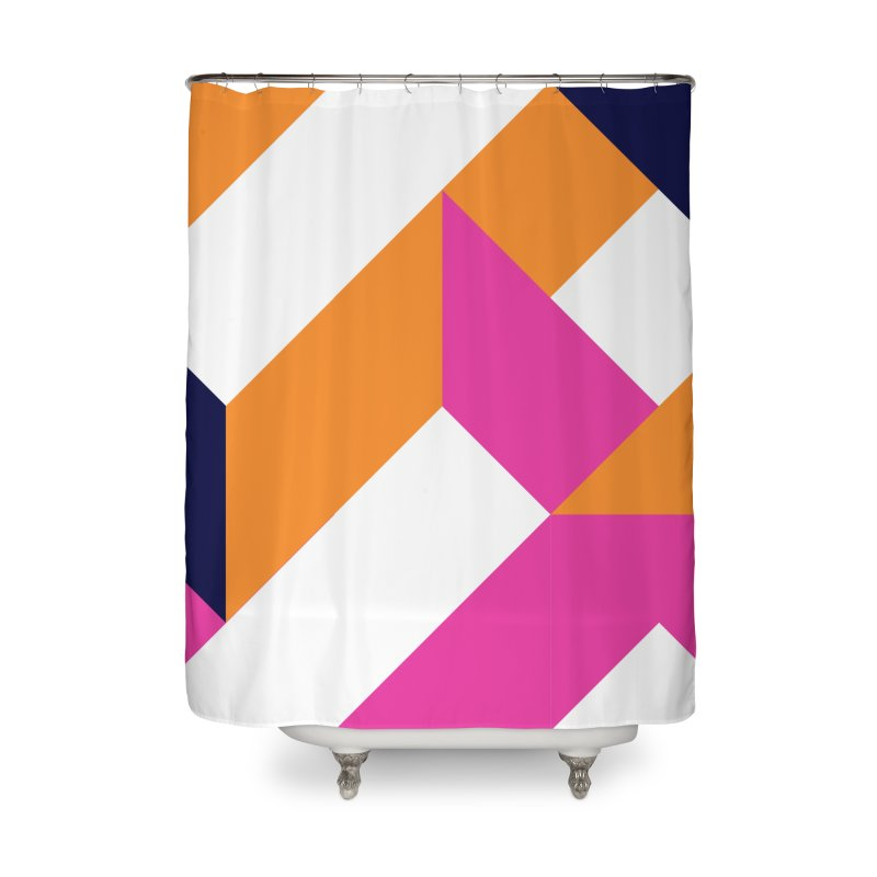 Geometric Design Series 4, Poster 5 (Version 2) Home Shower Curtain by Madeleine Hettich Design & Illustration