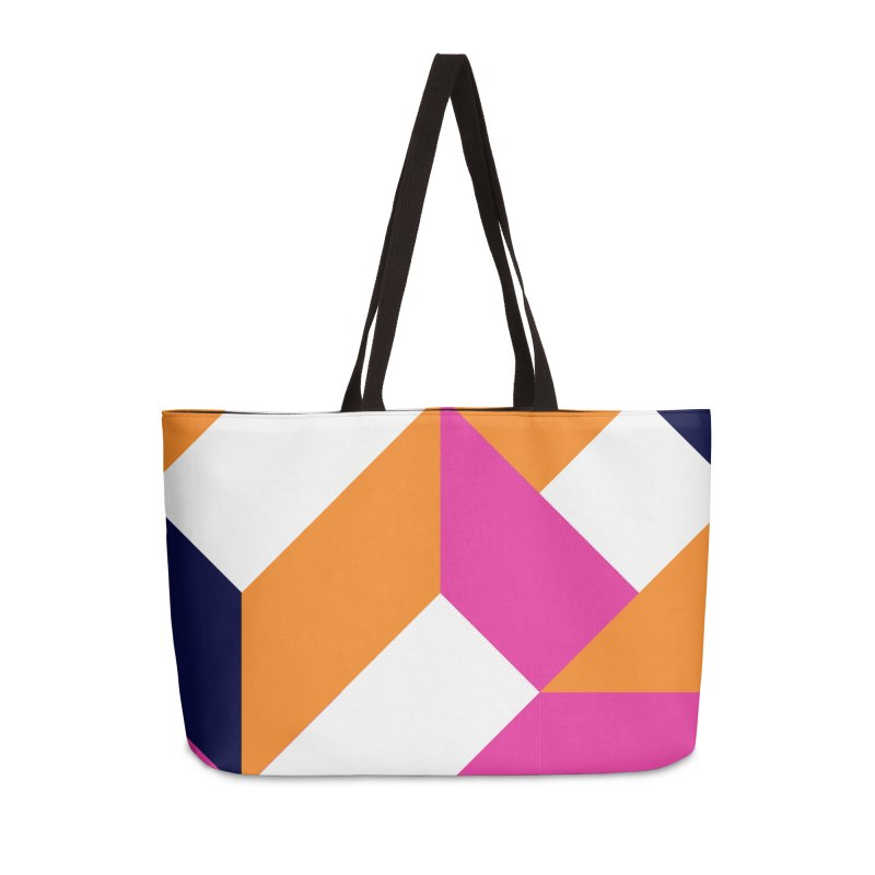 Geometric Design Series 4, Poster 5 (Version 2) Accessories Weekender Bag Bag by Madeleine Hettich Design & Illustration