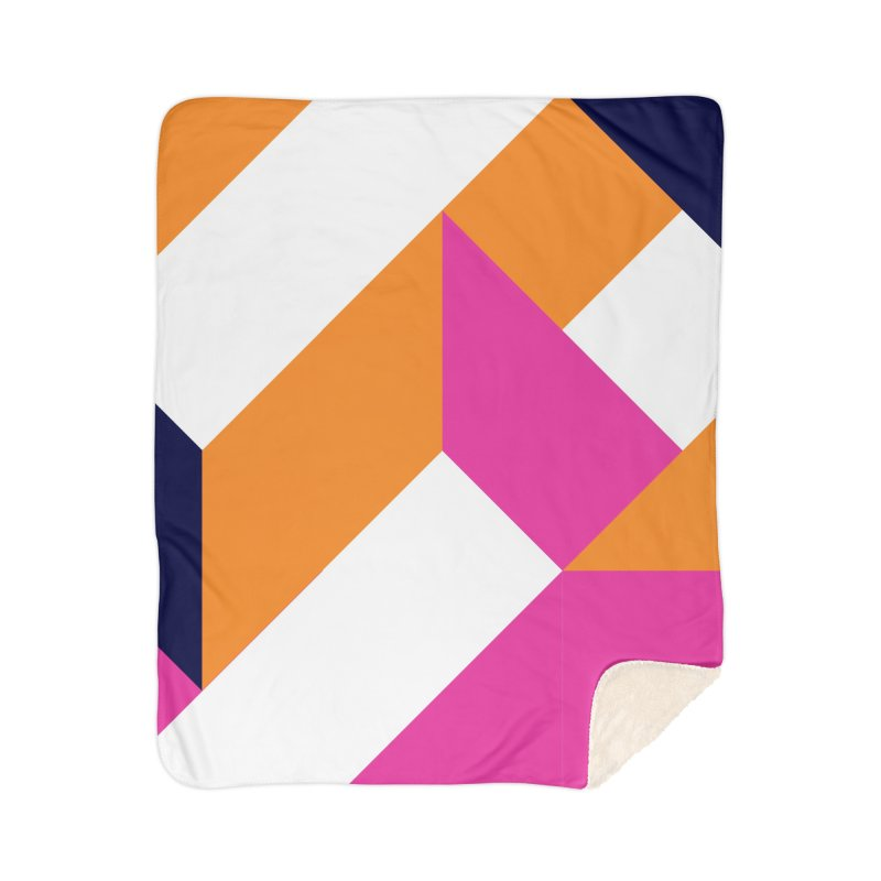Geometric Design Series 4, Poster 5 (Version 2) Home Sherpa Blanket Blanket by Madeleine Hettich Design & Illustration