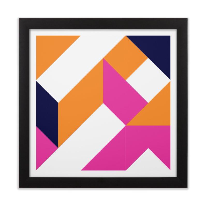 Geometric Design Series 4, Poster 5 (Version 2) Home Framed Fine Art Print by Madeleine Hettich Design & Illustration