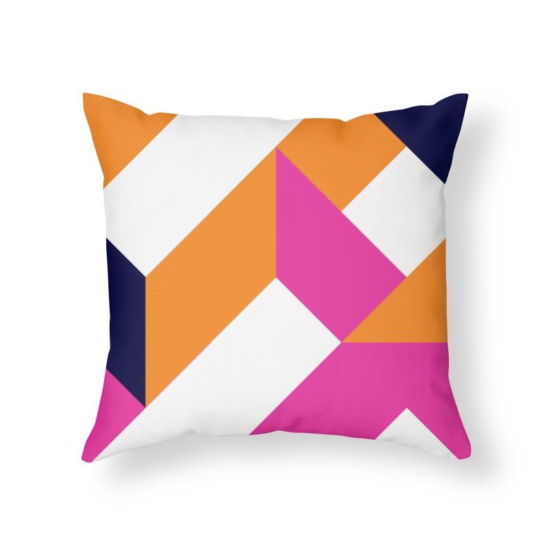 Geometric Design Series 4, Poster 5 (Version 2) Home Throw Pillow by Madeleine Hettich Design & Illustration