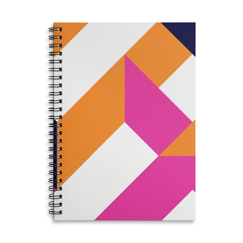 Geometric Design Series 4, Poster 5 (Version 2) Accessories Lined Spiral Notebook by Madeleine Hettich Design & Illustration