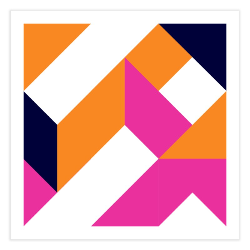 Geometric Design Series 4, Poster 5 (Version 2) Home Fine Art Print by Madeleine Hettich Design & Illustration