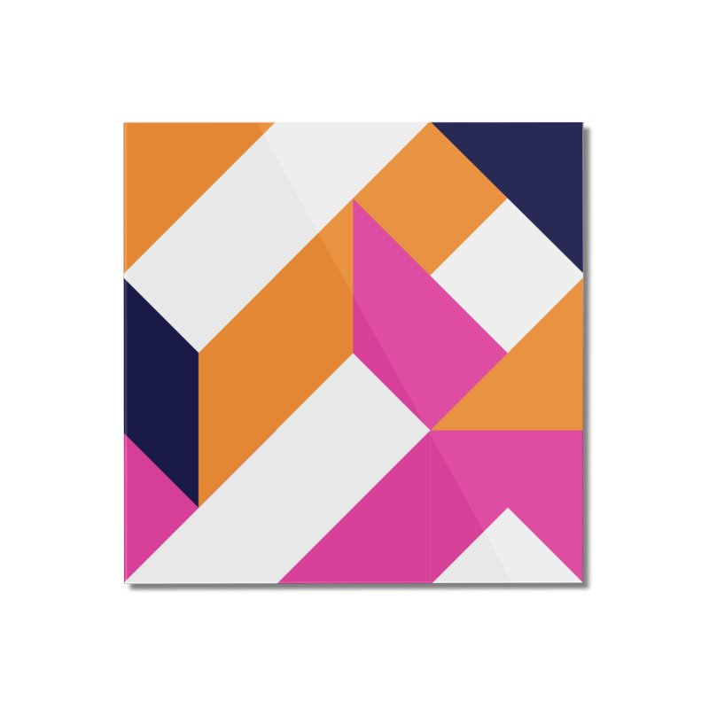 Geometric Design Series 4, Poster 5 (Version 2) Home Mounted Acrylic Print by Madeleine Hettich Design & Illustration