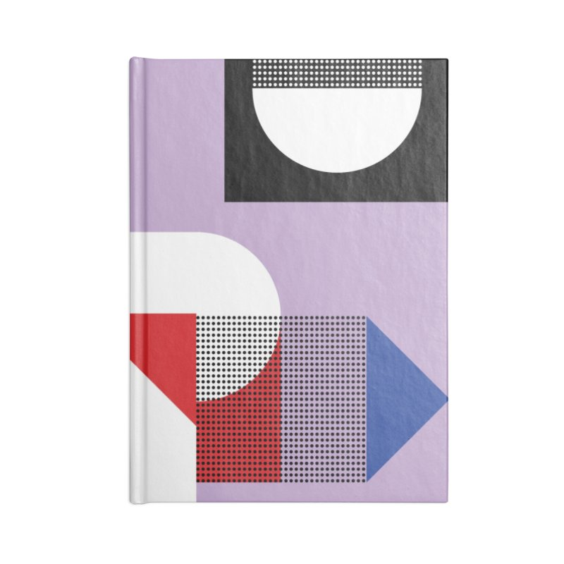 Kaleidoscope Design Series 1, Poster 19 Accessories Lined Journal Notebook by Madeleine Hettich Design & Illustration
