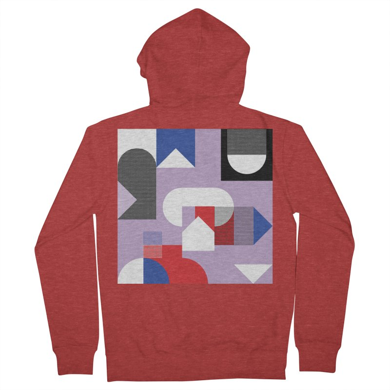 Kaleidoscope Design Series 1, Poster 19 Men's French Terry Zip-Up Hoody by Madeleine Hettich Design & Illustration
