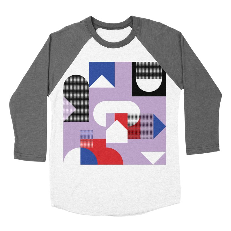 Kaleidoscope Design Series 1, Poster 19 Women's Baseball Triblend Longsleeve T-Shirt by Madeleine Hettich Design & Illustration