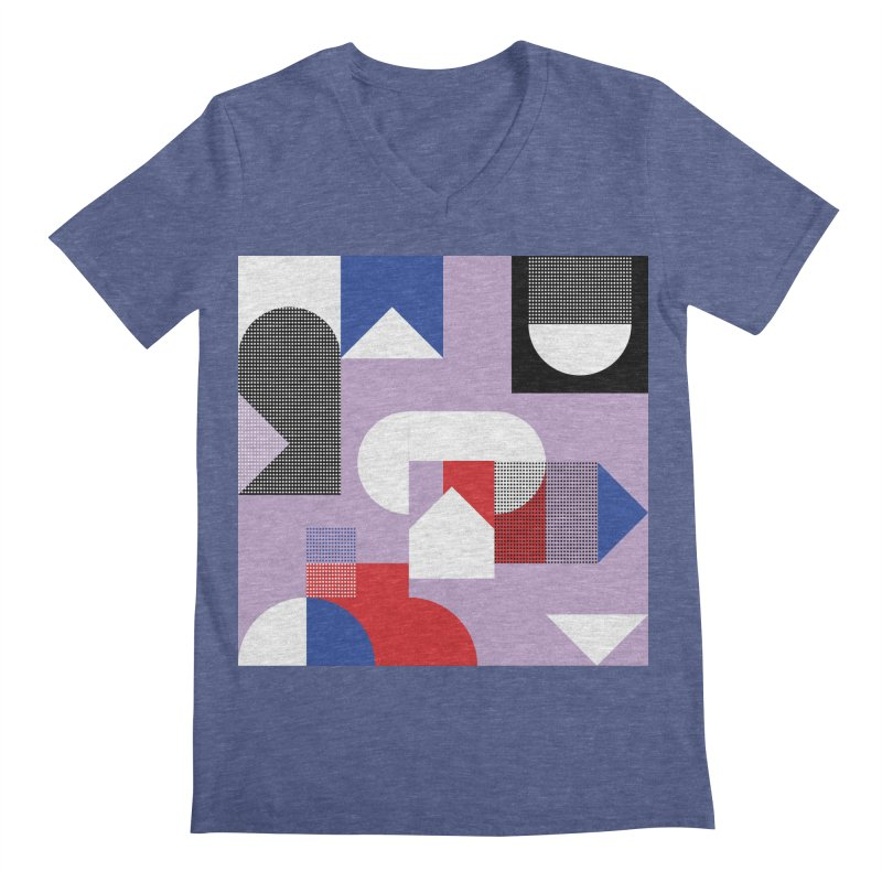 Kaleidoscope Design Series 1, Poster 19 Men's Regular V-Neck by Madeleine Hettich Design & Illustration