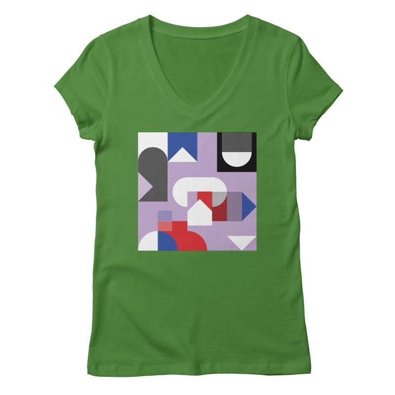 Kaleidoscope Design Series 1, Poster 19 Women's V-Neck by Madeleine Hettich Design & Illustration