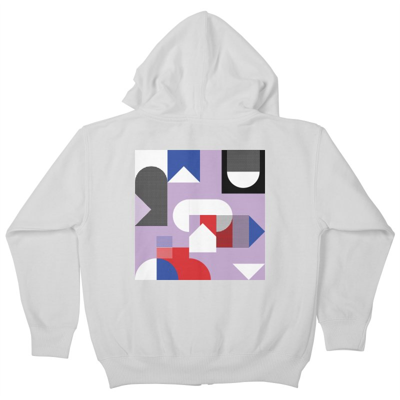 Kaleidoscope Design Series 1, Poster 19 Kids Zip-Up Hoody by Madeleine Hettich Design & Illustration