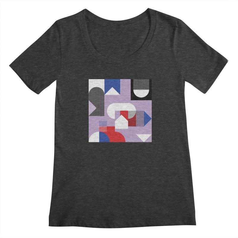 Kaleidoscope Design Series 1, Poster 19 Women's Scoopneck by Madeleine Hettich Design & Illustration