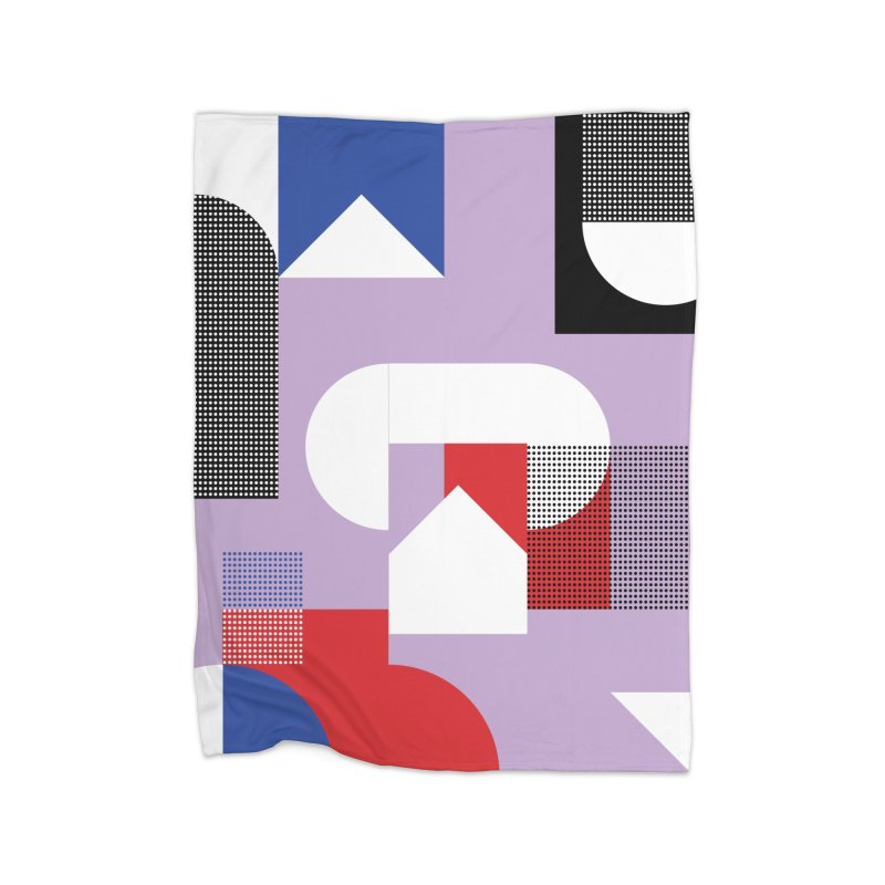 Kaleidoscope Design Series 1, Poster 19 Home Fleece Blanket Blanket by Madeleine Hettich Design & Illustration