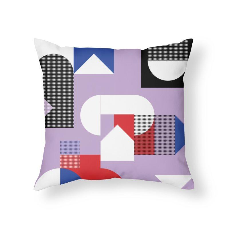 Kaleidoscope Design Series 1, Poster 19 Home Throw Pillow by Madeleine Hettich Design & Illustration
