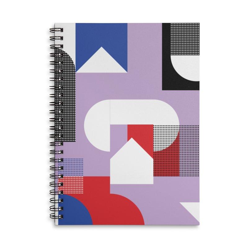 Kaleidoscope Design Series 1, Poster 19 Accessories Lined Spiral Notebook by Madeleine Hettich Design & Illustration