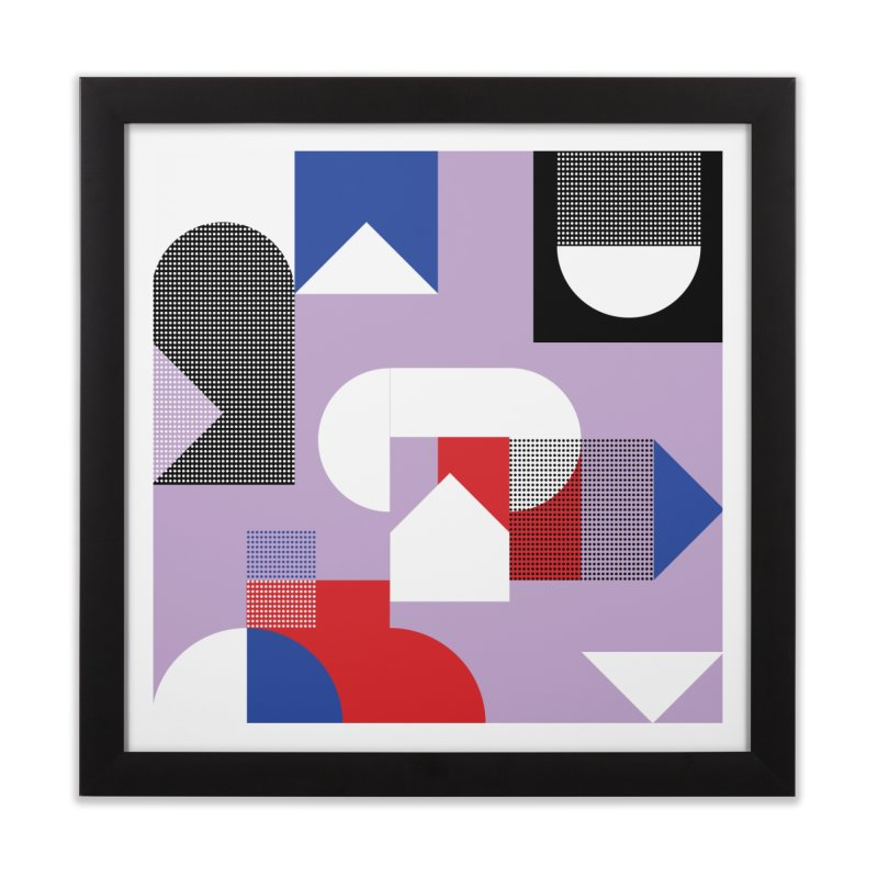 Kaleidoscope Design Series 1, Poster 19 Home Framed Fine Art Print by Madeleine Hettich Design & Illustration