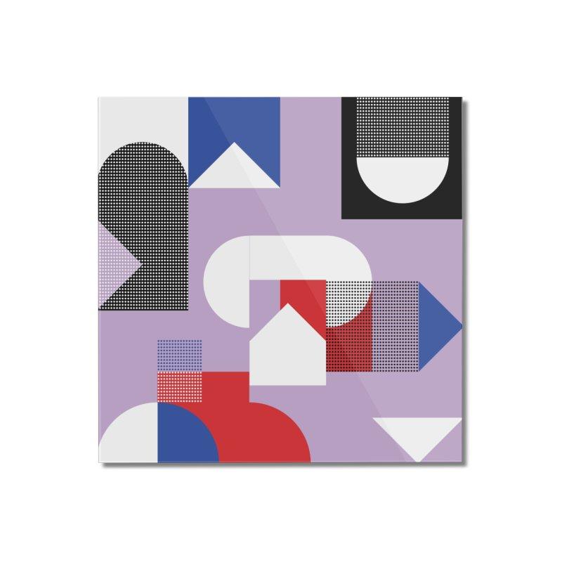 Kaleidoscope Design Series 1, Poster 19 Home Mounted Acrylic Print by Madeleine Hettich Design & Illustration